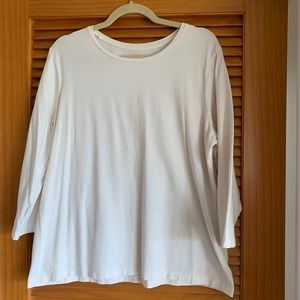Chico's Tru Color Tees size 3 Warm White